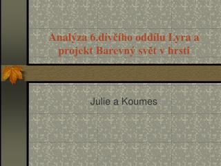 Analýza 6. d ívčího  o ddílu Lyra a projekt Barevný svět v hrsti