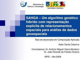 Tese de doutorado em Computação Aplicada Adair Santa Catarina