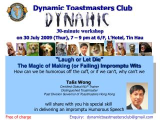 """"""" Laugh or Let Die """" The Magic of Making (or Failing) Impromptu Wits"""