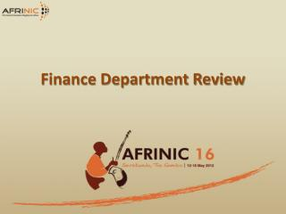 Finance Department Review