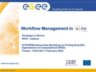 Workflow Management in
