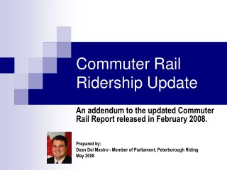 Commuter Rail Ridership Update