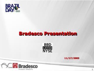 Bradesco Presentation