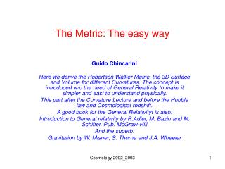 The Metric: The easy way