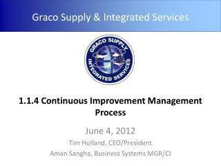 1.1.4 Continuous Improvement Management Process