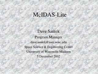 McIDAS-Lite