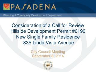 City Council Meeting September 8, 2014