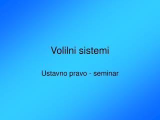 Volilni sistemi