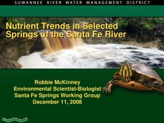 Nutrient Trends in Selected Springs of the Santa Fe River