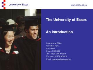 The University of Essex An Introduction