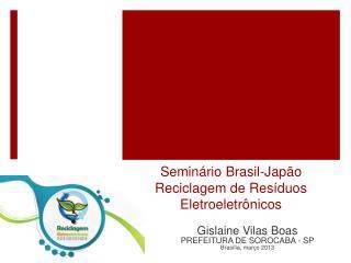 Seminário Brasil-Japão Reciclagem de Resíduos Eletroeletrônicos