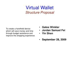 Virtual Wallet Structure Proposal