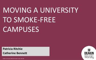 Moving  a university to smoke-free campuses