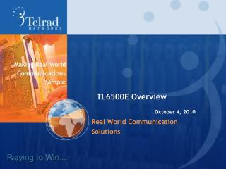 Real World Communication Solutions