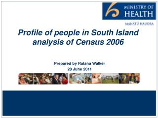 Profile of people in South Island  analysis of Census 2006