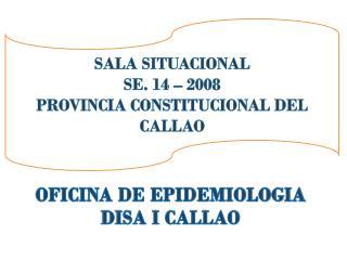 OFICINA DE EPIDEMIOLOGIA DISA I CALLAO