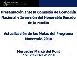 Mercedes Marcó del Pont 7 de Septiembre de 2010