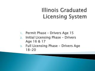 Illinois Graduated  Licensing System