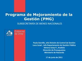 Programa de Mejoramiento de la Gesti�n (PMG)