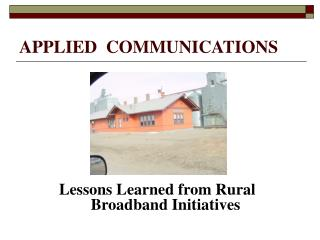 APPLIED  COMMUNICATIONS