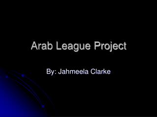Arab League Project