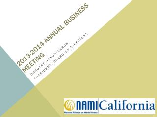 2013-2014 ANNUAL BUSINESS MEETING