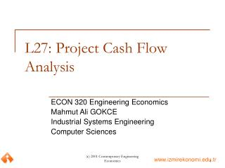 L27: Project Cash Flow Analysis