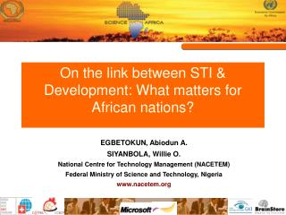 On the link between STI  Development: What matters for African nations