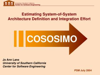 Estimating System-of-System  Architecture Definition and Integration Effort