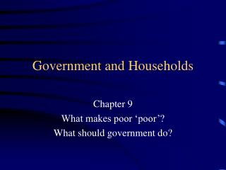 Government and Households