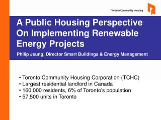 A Public Housing Perspective On Implementing Renewable Energy Projects