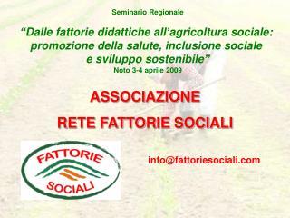 ASSOCIAZIONE  RETE FATTORIE SOCIALI