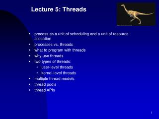 Lecture 5: Threads