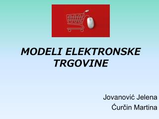 MODELI ELEKTRONSKE TRGOVINE
