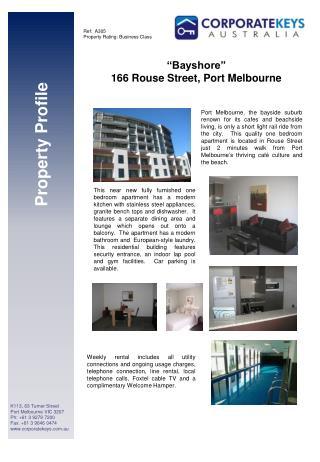 K113, 63 Turner Street Port Melbourne VIC 3207 Ph: +61 3 9279 7200 Fax: +61 3 9646 0474