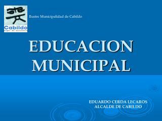 EDUCACION MUNICIPAL