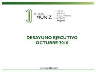 DESAYUNO EJECUTIVO OCTUBRE 2010