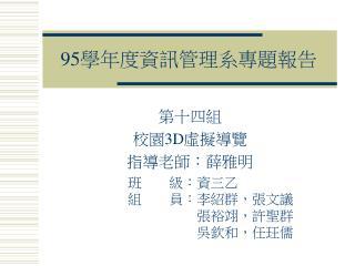 95 學年度資訊管理系專題報告