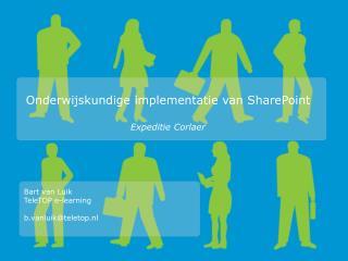 Onderwijskundige implementatie van SharePoint