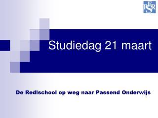 Studiedag 21 maart