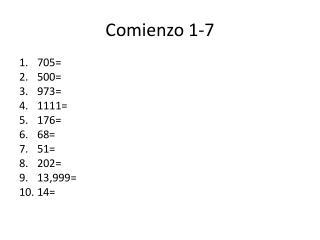 Comienzo  1-7