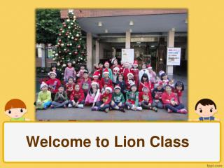 Welcome to Lion Class