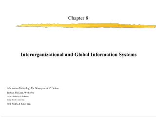 Information Technology For Management 5th Edition Turban, McLean, Wetherbe Lecture Slides by A. Lekacos,  Stony Brook Un