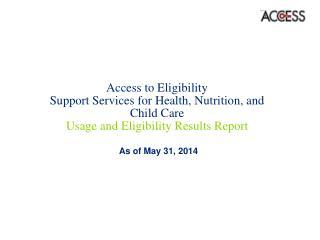 As of May 31, 2014