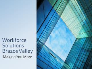 Workforce Solutions Brazos Valley