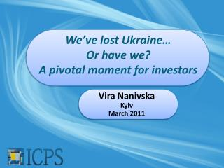 We've lost Ukraine… Or have we? A pivotal moment for investors