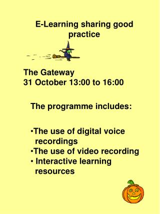 E-Learning sharing good practice