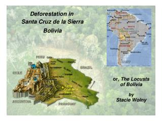 Deforestation in Santa Cruz de la Sierra Bolivia