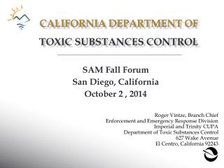 California department of toxic substances control