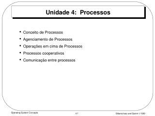 Unidade 4:  Processos